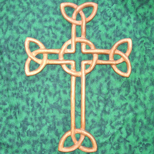 Wood carved Cross of Daniel by Mark Cooper of Signs of Spirit.