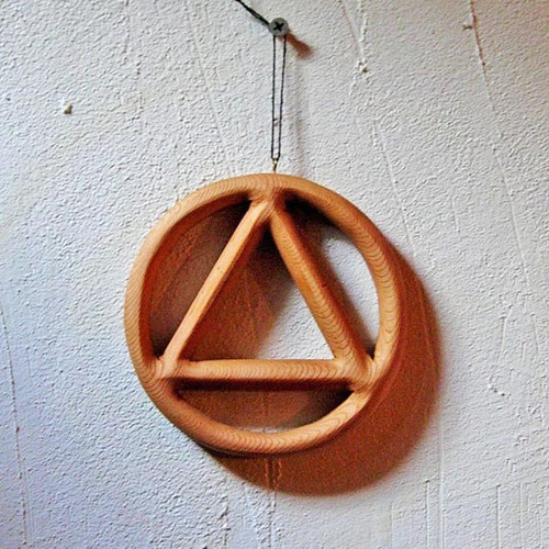 Miniature Sobriety Circle and Triangle-Alcoholics Anonymous Symbol