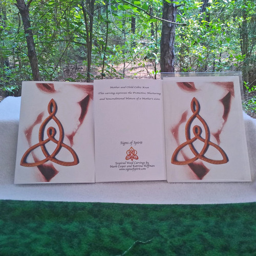 Mother and Child Greeting Cards (Brown Hue) by Signs of Spirit