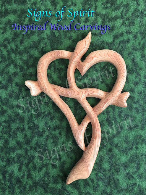 Heart Cross- Inspired Wood Carving by Signs of Spirit