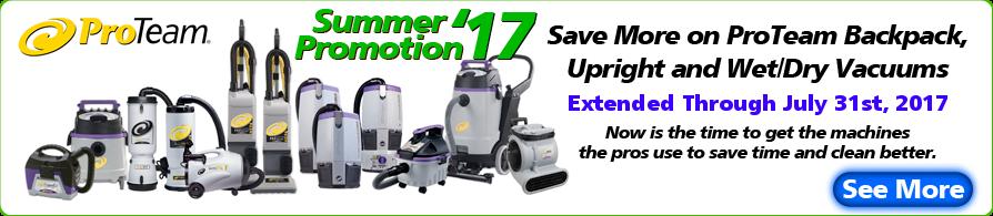 Proteam Vacuum Summer Promotion