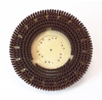 The durability of grit rotary brushes in a less aggressive version.  For dally scrubbing of hard surfaces.