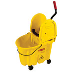 WaveBrake's® innovative bucket shape with patent-pending molded-in wave brakes reduces splashing up to 40% for safer mopping.