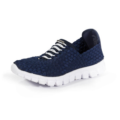 Danielle-A Navy Casual Woven Sneakers