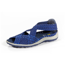 Saletto Navy/Blue Multi Woven Sandal