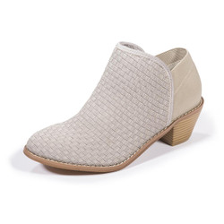 Monica Warm Gray Ankle Booties