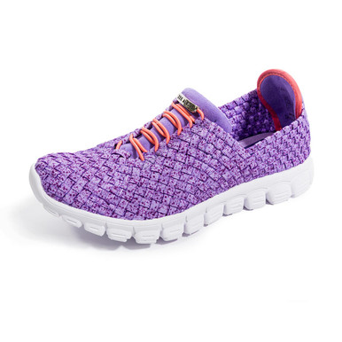 Danielle-A Purple Speckle Woven Sneakers