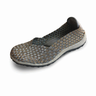 Spice Pewter/Bronze Woven Flat