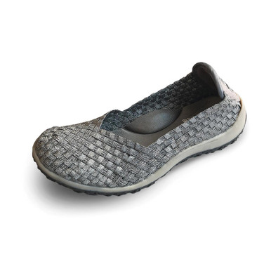 Spice Pewter/Gray Bottom Woven Flat