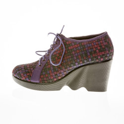 PRAGUE Forest Multi Lace-Up Wedge