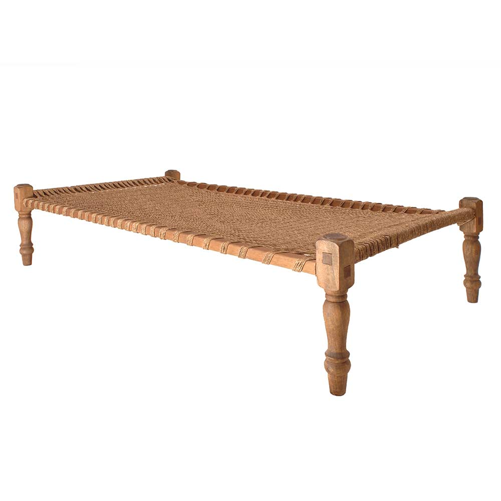 Charpoi Woven Rope Bed