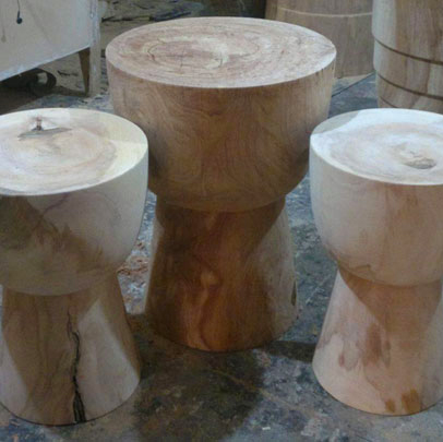 Custom Djembe Side Tables