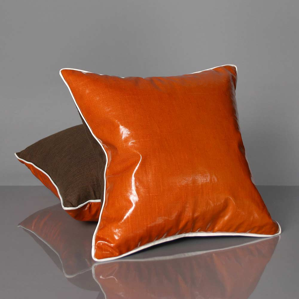 Orange Slicker Pillow