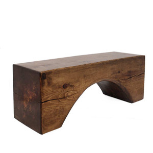 As Shown: Arco Bench Table Size: 16 x 48 x 18 H inches Finish: Honey Brown Topcoat: Sealed Topcoat