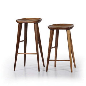 As Shown: High Ball Walnut Bar Stool