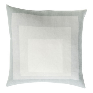 As Shown: Geo Abstract Pillow - TO-020/024 Size: 18 x 18 inches Material: Cotton  Description: Receding squares march their way into the distance in these quality cotton pillows handmade in India. When a statement cushion is your wish, these pillows are our desire. In multiple colors and sizes.