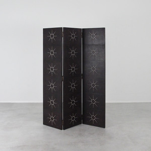 As Shown: Mulholland Screen Size: 18 x .75 x 60 H inches - each panel Material: Goat hide leather pasted over a wooden frame