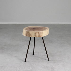 White Oak Tripod Table