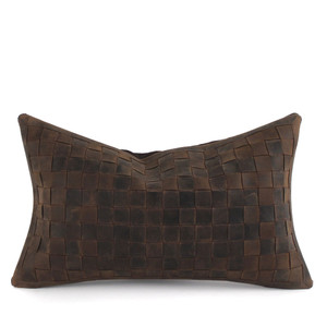 As Shown: Easy Rider Pillow Size: 16 x 22 inches Material: Leather Color: Distressed Brown