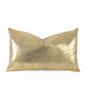 As Shown: Linen Glisten Pillow Size: 12 x 20 inches Material: Linen Color: Gold