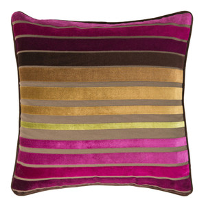 Velvet Touch Pillow - JS-020 Size: 18 x 18 inches Material: Cotton Polyester in Style A   Description: Infuse color and glamour into your rock & roll lifestyle. Hot hues blend together in four cool combos for fashionable flair that is as at-home adding brightness to a dark leather den, or a pristine white penthouse.