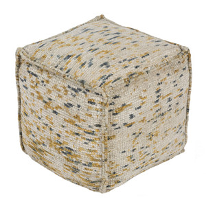 As Shown: Signac Chenille Pouf - BZPF-001 Size: 18 x 18 x 18 H inches Material: Cotton polyester blend (50/50)