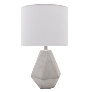 Devereux Concrete Table Lamp - SGN-100 Size: 14 dia x 24.25 H inches Material: Concrete with Linen Shade  Description: