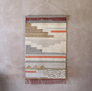 As Shown: Wall Hanging - RO-2003 Size: 36 x 60 inches Material: Hand Woven Wool Cotton