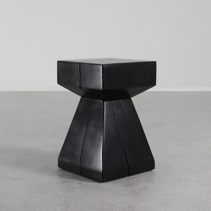As Shown: Arquitectura Table Size: 13.5 x 13.5 x 21 H inches Finish: Espresso Topcoat: Sealed Topcoat