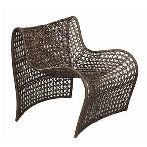 As Shown: Lola Occasional Chair Size: 36 x 28 x 31 H inches, Seat 15 H inches Material: Woven Leather, Iron Frame Color: Brown