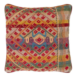 As Shown: Tribal Pillow - MOP-001 Size: 18 x 18 inches Material: Cotton  Description: