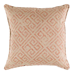 As Shown: Ionia Greek Key Pillow - GO-004 Size: 18 x 18 inches Material: Cotton Color:
