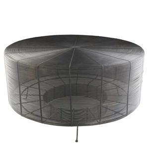 As Shown: Palet Wire Cocktail Table - ROR-001 Size: 29.5 dia  x 14.5 H inches Material: Iron