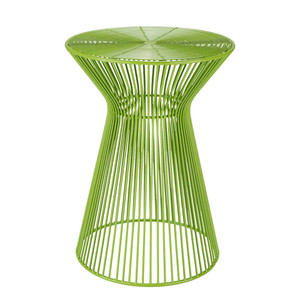 As Shown: Colores Metal Side Table Size: 13.5 dia  x 18 H inches Material: Iron in Lime