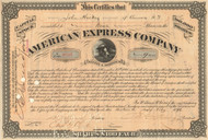 American Express Company Stock Certificate 1896 - James Fargo signed