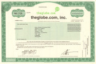 theGlobe.com inc. stock certificate 2001 (dot-com bubble)