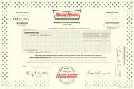 Krispy Kreme Doughnuts stock certificate 2001 (North Carolina)