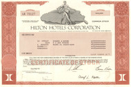 Hilton Hotels Corporation stock certificate 1997