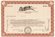 Su-Mark Boats Inc. stock certificate 1961 (Massachusetts)