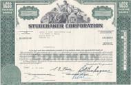 Studebaker Corporation stock certificate - green