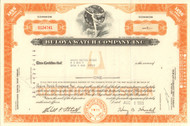 Bulova Watch Company Inc. stock certificate 1969
