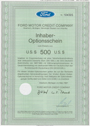 Ford Motor Credit (Germany) option certificate $500