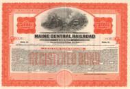 Maine Central Railroad Company $50,000 bond certificate 1935