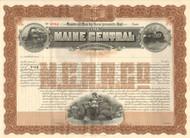 Maine Central Railroad Company bond certificate 1912