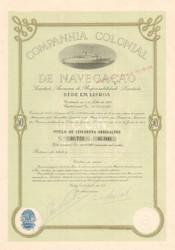 Companhia Colonial De Navegação bond certificate 1954  (Portugal)