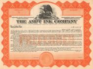 Ampt Ink Company stock certificate circa 1919 (Ohio)