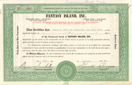 Fantasy Island Inc. stock certificate 1961 (New York amusement park)