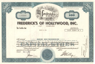Fredericks of Hollywood stock certificate 1980's (lingerie) - blue