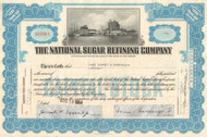 National Sugar Refining Company stock certificate 1950's (Jack Frost brand) - light blue