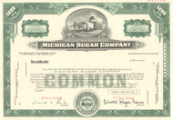 Michigan Sugar Company stock certificate specimen  (sugar beets)